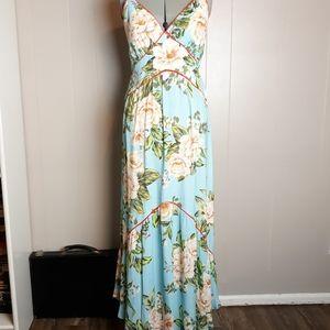 NWT antrho FARM RIO Hawaiian floral maxi dress
